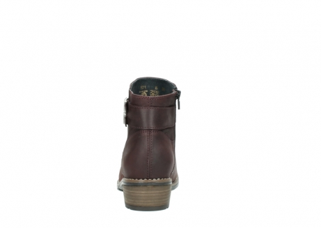 wolky ankle boots 00571 nero 50510 burgundy oiled leather_7
