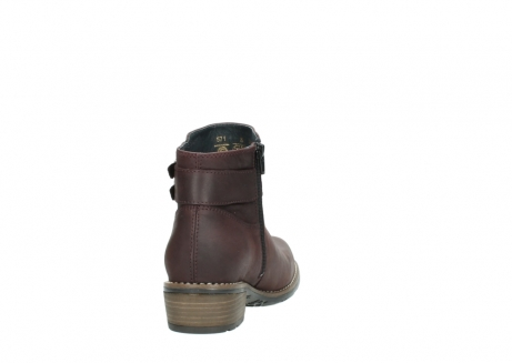 wolky ankle boots 00571 nero 50510 burgundy oiled leather_8