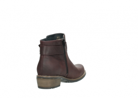 wolky ankle boots 00571 nero 50510 burgundy oiled leather_9