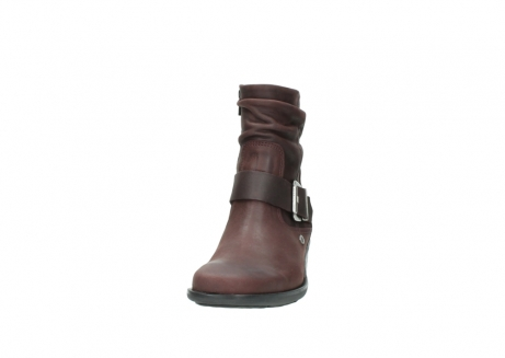wolky ankle boots 00930 coyote 50510 burgundy oiled leather_20