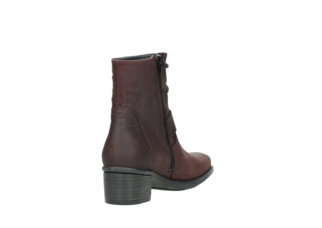 wolky ankle boots 00930 coyote 50510 burgundy oiled leather_9