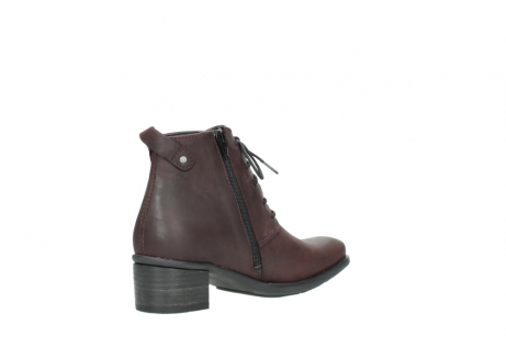 wolky ankle boots 00932 pistol 50510 burgundy oiled leather_10
