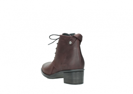 wolky ankle boots 00932 pistol 50510 burgundy oiled leather_5