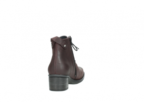 wolky ankle boots 00932 pistol 50510 burgundy oiled leather_8