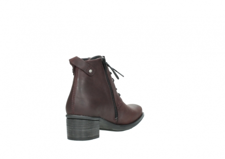 wolky ankle boots 00932 pistol 50510 burgundy oiled leather_9
