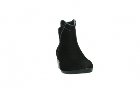 wolky ankle boots 00954 winchester wp 13000 black nubuckleather_6