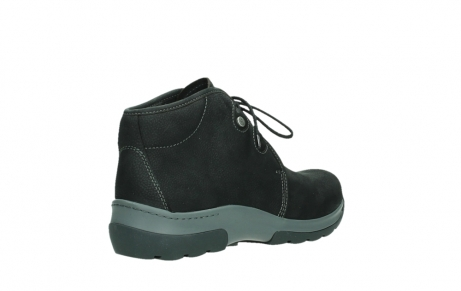 wolky ankle boots 03025 dub 11000 black nubuckleather_22