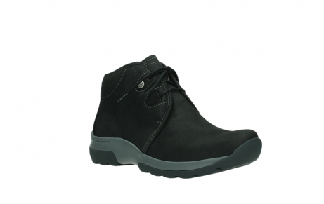 wolky ankle boots 03025 dub 11000 black nubuckleather_4