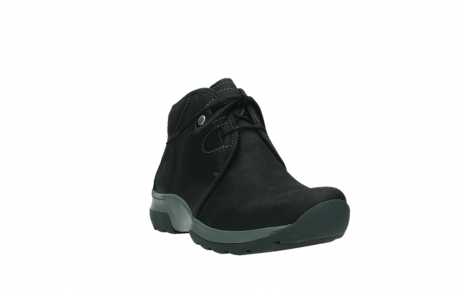 wolky ankle boots 03025 dub 11000 black nubuckleather_5