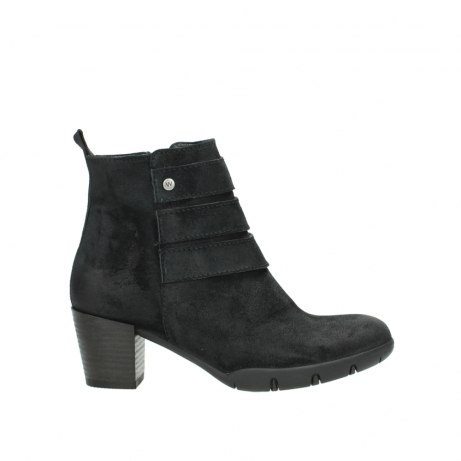 wolky ankle boots 03677 willmore 40001 black suede
