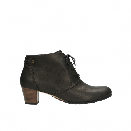 wolky ankle boots 03751 ball 10300 mottled metallic brown leather