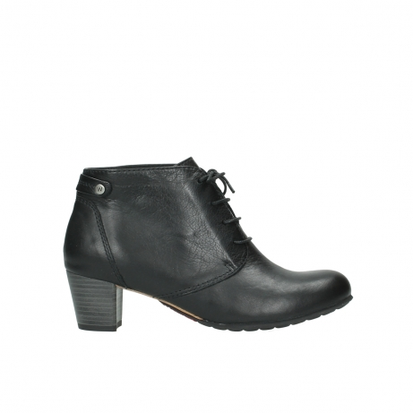 wolky ankle boots 03751 ball 20000 black leather
