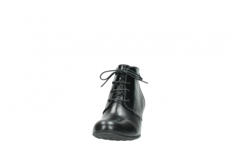 wolky ankle boots 03751 ball 20000 black leather_20