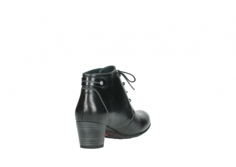 wolky ankle boots 03751 ball 20000 black leather_9