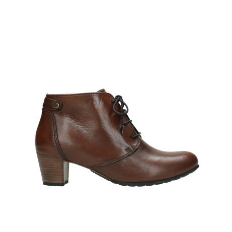 wolky bottines 03751 ball 20430 cuir cognac