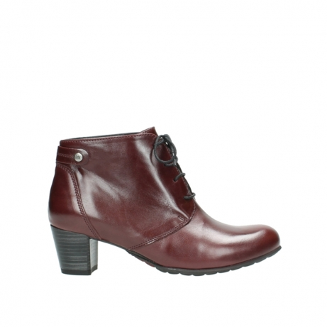wolky ankle boots 03751 ball 20510 bordeaux leather