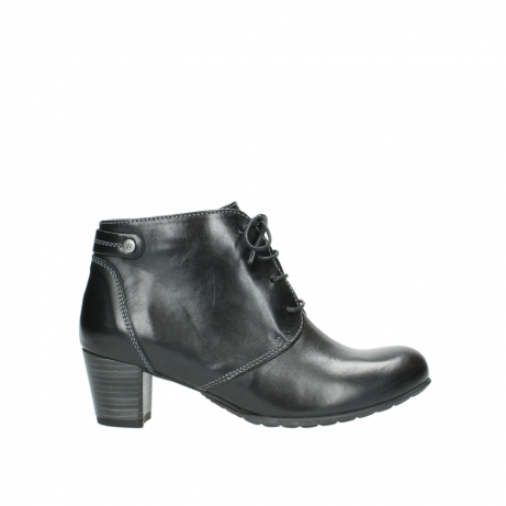wolky ankle boots 03751 ball 30000 black leather