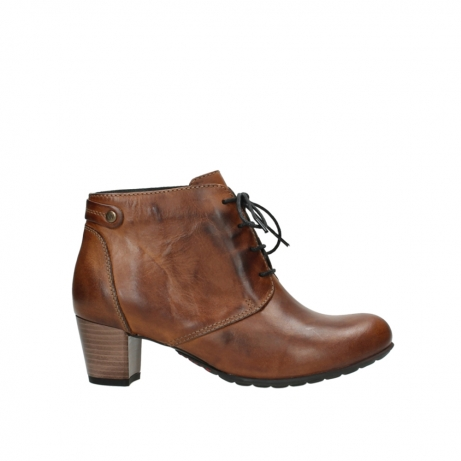 wolky ankle boots 03751 ball 30430 cognac leather