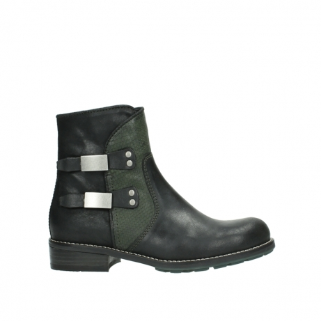 wolky ankle boots 04439 emerald 50730 forest green oiled leather