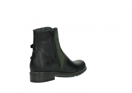wolky ankle boots 04439 emerald 50730 forest green oiled leather_10
