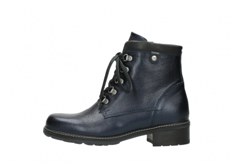 wolky lace up boots 04475 ronda 81800 blue metallic leather_1
