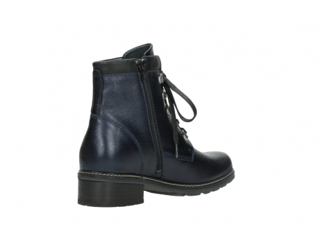 wolky lace up boots 04475 ronda 81800 blue metallic leather_10