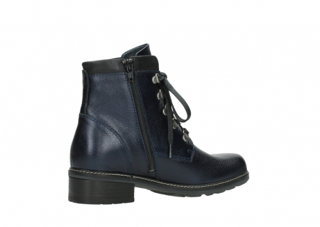 wolky lace up boots 04475 ronda 81800 blue metallic leather_11