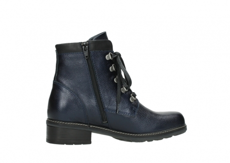 wolky lace up boots 04475 ronda 81800 blue metallic leather_12