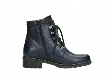 wolky lace up boots 04475 ronda 81800 blue metallic leather_13