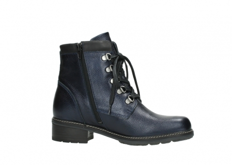 wolky lace up boots 04475 ronda 81800 blue metallic leather_14