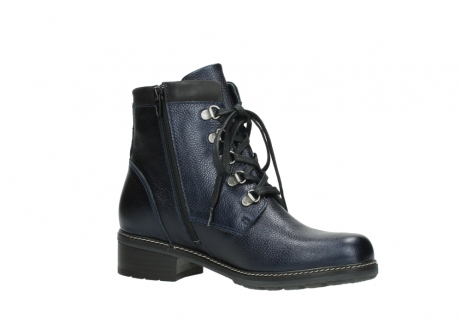 wolky lace up boots 04475 ronda 81800 blue metallic leather_15