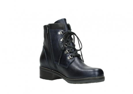 wolky lace up boots 04475 ronda 81800 blue metallic leather_16