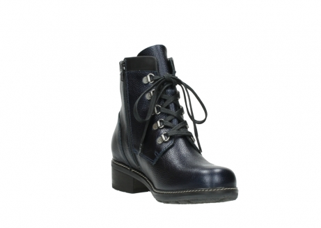 wolky lace up boots 04475 ronda 81800 blue metallic leather_17