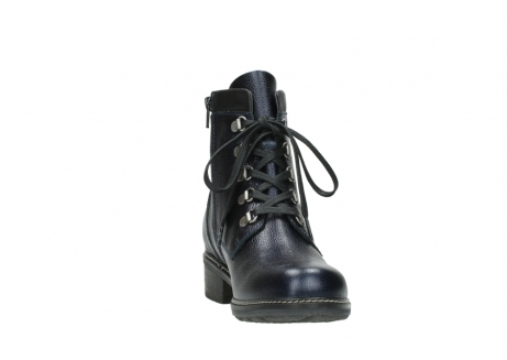 wolky lace up boots 04475 ronda 81800 blue metallic leather_18