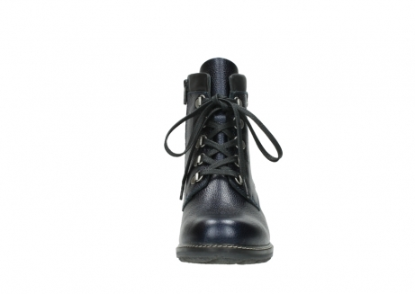 wolky lace up boots 04475 ronda 81800 blue metallic leather_19