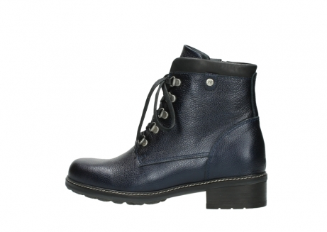 wolky lace up boots 04475 ronda 81800 blue metallic leather_2