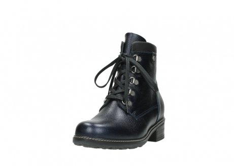 wolky lace up boots 04475 ronda 81800 blue metallic leather_21