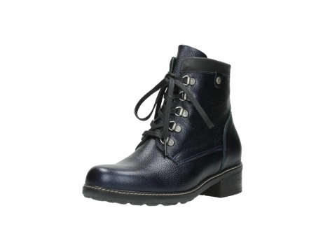 wolky lace up boots 04475 ronda 81800 blue metallic leather_22