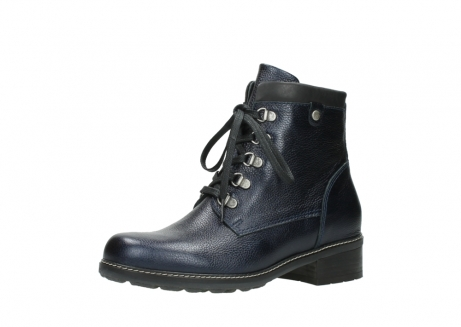 wolky lace up boots 04475 ronda 81800 blue metallic leather_23