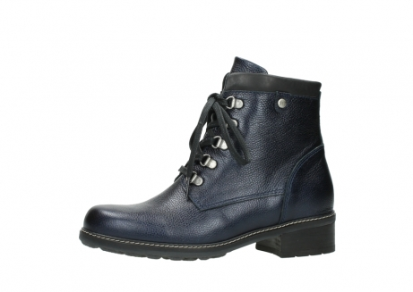 wolky lace up boots 04475 ronda 81800 blue metallic leather_24
