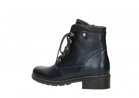 wolky lace up boots 04475 ronda 81800 blue metallic leather_3