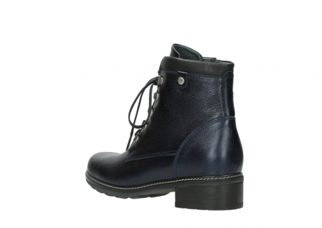 wolky lace up boots 04475 ronda 81800 blue metallic leather_4