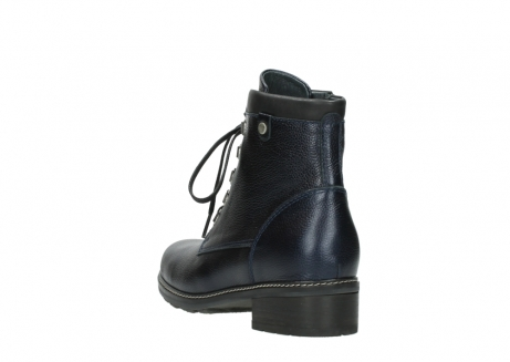 wolky lace up boots 04475 ronda 81800 blue metallic leather_5