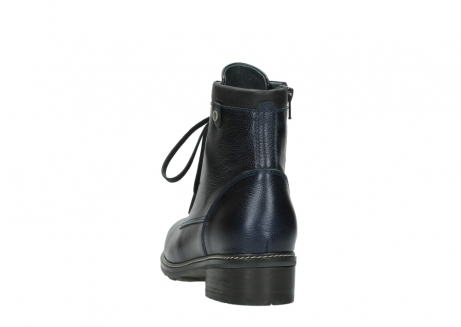 wolky lace up boots 04475 ronda 81800 blue metallic leather_6