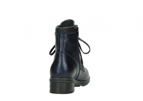 wolky lace up boots 04475 ronda 81800 blue metallic leather_8