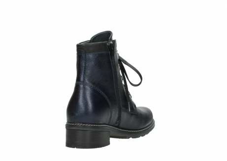 wolky lace up boots 04475 ronda 81800 blue metallic leather_9