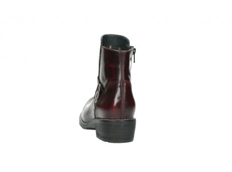 wolky ankle boots 0525 gila 351 burgundy polished leather_11