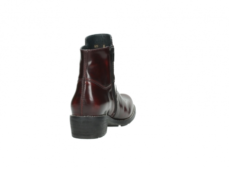 wolky ankle boots 0525 gila 351 burgundy polished leather_13