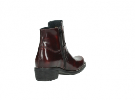 wolky ankle boots 0525 gila 351 burgundy polished leather_14