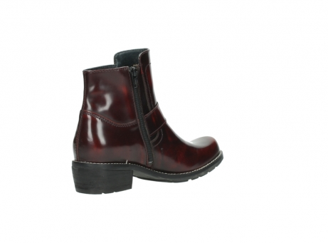 wolky ankle boots 0525 gila 351 burgundy polished leather_15